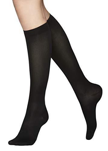 Vogue Support 100 Den - Stützstrümpfe, kniehohe Damen Kompressionstrümpfe, 1 Paar, Schwarz