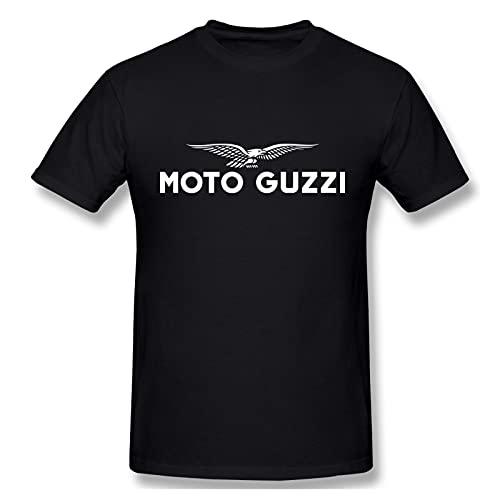 Moto Guzzi Logo Camiseta para Hombre Casual Creative Print Crewneck Graphic Cómodo Manga Corta T-Shirt