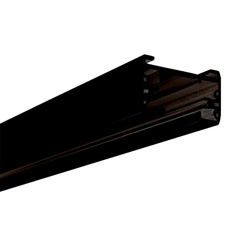 Lithonia Lighting LTS8 DBL M6 1-Circuit Track Section with End Caps, 8, Black