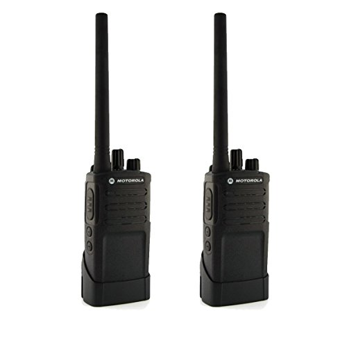 Motorola RMV2080 On-Site 8 Channel VHF Rugged Two-Way Business Radio with NOAA (Black) (Two Count)