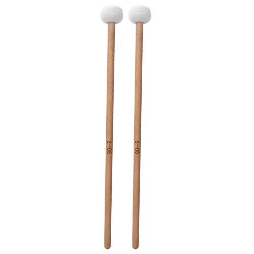 Caiqinlen Regalo Romantico Drum Mallet Hammer, Alta qualità in Feltro di Legno massello di Media durezza Stabile 2Pcs Drum Stick, Accessori per Strumenti Musicali a Batteria Fac