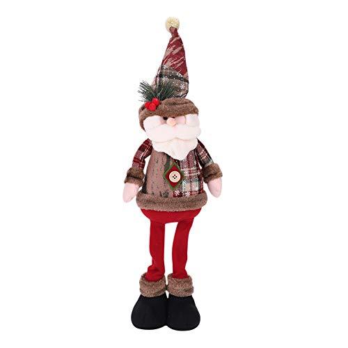 Decorazioni natalizie Babbo Natale pupazzo di neve alce bambola Grande bambola di Natale con vetrina negozio di arredamento Decorazioni natalizie Morbido peluche bambola regalo giocattolo per bambini