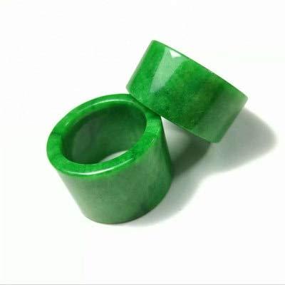 K-ONE Jade Natural AA Cargo Anillo Verde seco Disparador de Jade Se refiere al Anillo Verde Yang de Hombres y Mujeres Jade Lleno de dragón de Hierro Verde