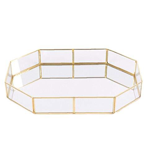Nicetruc Tipo de Almacenamiento polígono Placa de Cristal de joyería de Oro...