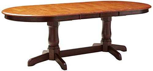 Iconic Furniture Oval Dining Table Whiskey Mocha Finish