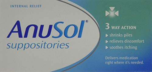 Anusol Suppositories for Haemorrhoids Treatment - Shrinks Piles, Relieves Discomfort & Soothes Itching - Box of 24