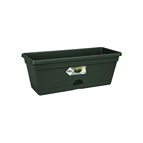 Elho Green Basics Balkonkasten Mini 30 - Übertopf - Laubgrün - Drinnen, Draußen & Balkon - L 11.9 x W 29.8 x H 10.6 cm