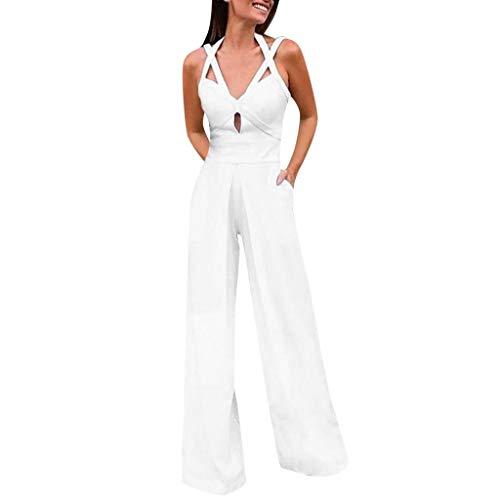 Combinaison décontractée sans manches à col en V et à la mode pour femmes chic soirée ete sexy grande taille jean short dentelle fluide longue boheme pas cher pyjama stitch pantalon ouverte