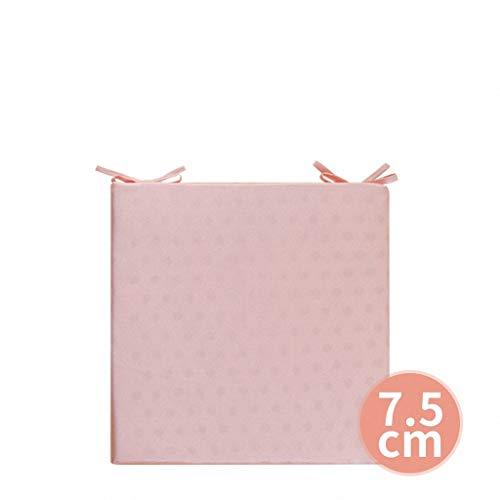 Coussin de bureau de couleur unie coussin étudiant étudiant ordinateur coussin canapé coussin fenêtre de tatami ménage tapis de bureau (Couleur : Pink, taille : 40 x 40CM)