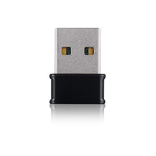 Zyxel Adaptador Nano USB AC1200 inalámbrico de doble banda - Soporte MU-MIMO para una experiencia de red sin retrasos. Seguridad avanzada de encriptación WEP/WPA/WPA2/WPA3 [NWD6602]