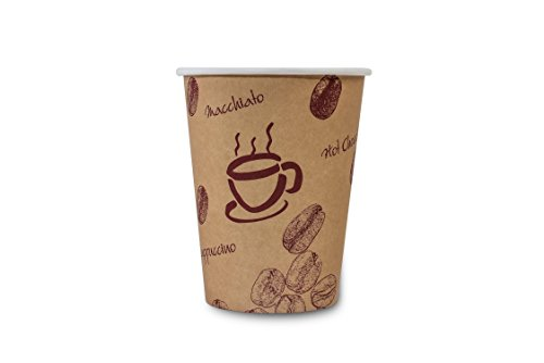 Funny Coffee-to-go Becher 200 ml, braun, 50 Stück