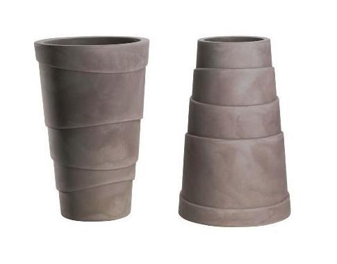 Vase Zig Zag résine cm. 50 – Couleur Cendre