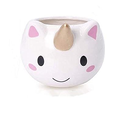 Tazas de café 3D unicornio tazas de cerámica tazas de café para niñas y mujeres, 300 ml