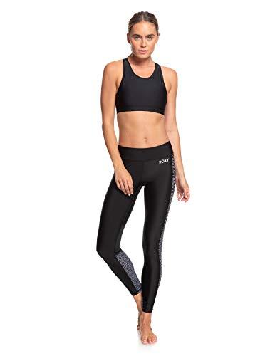 Roxy Damen Non-Denim Pants Spy Game - 7/8-Fitness-Leggings für Frauen, True Black World Wide, S, ERJNP03279