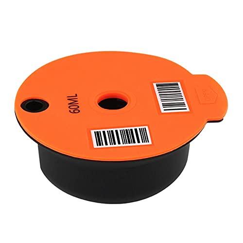 Cesta de filtro reutilizable de la taza de la cápsula del café de la cápsula del cepillo de la cuchara para el hogar Gadgets de la cocina - 60ml,