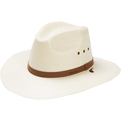 Stetson & Dobbs OSLAMS-3830 Men's Los Alamos Toyo Straw Hat, Natural - L