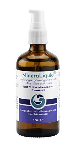 MineraLiquid® - Mineralienkonzentrat pur zur Mineralisierung von Getränken, Ideal in Kombination mit einem Soda-Sprudler, 100ml