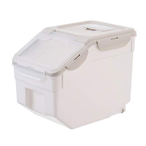 Pet 584621 Futtercontainer, Aufbewahrungsbox für Tierfutter, Hundefutter Katzenfutter Futtertonne Futterbehälter Trockenfutter Vorratsbehälter luftdicht bewegbar,S