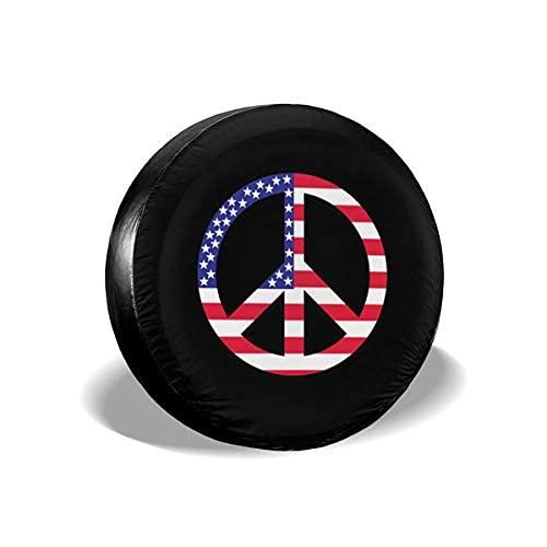 Qian Mu888 Peace - Cubierta de repuesto para neumáticos a prueba de polvo y rayos UV, para remolques, RV, SUV y muchos vehículos de 16 pulgadas