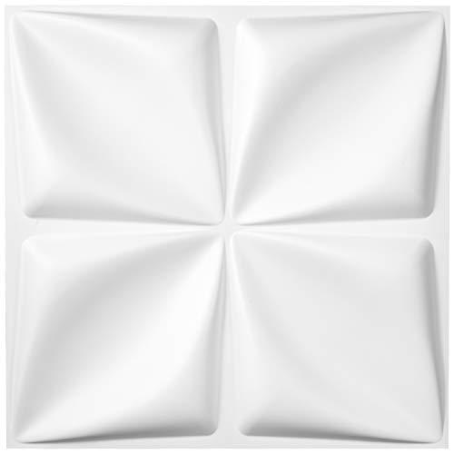 VEVOR Paneles Decorativos 3d, Paneles PVC Pared, Revestimiento de Paredes, Panel Pared Impermeable 3D, Revestimiento De Paredes 3D, Ladrillo 3d Adhesivo Pared, Flores, 13 Piezas