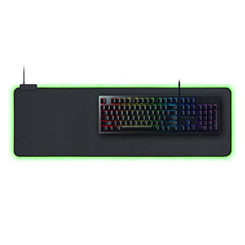 Razer Huntsman Gaming Keyboard + Goliathus Extended Chroma Mousepad Bundle: Matte Black