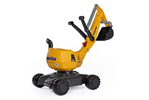 Rolly Toys rollyDigger Komatsu (Sandspielzeug, Farbe grau/gelb, für Kinder von 3-8 Jahre, Automatikverriegelung) 421169