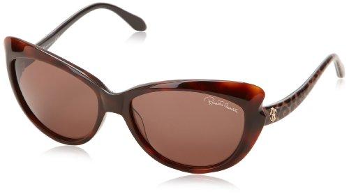 Roberto Cavalli RC731S gafas de sol, Marrón (Dark Havana with Animal Print), Talla única (Talla del fabricante: One size) para Mujer