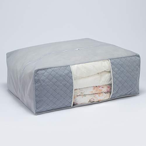 アストロ布団収納袋布団一式保管グレー不織布活性炭消臭171-20