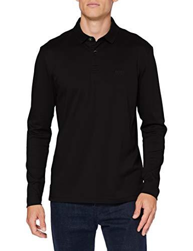 BOSS Pirol Camisa Polo, Negro (1), 4XL para Hombre