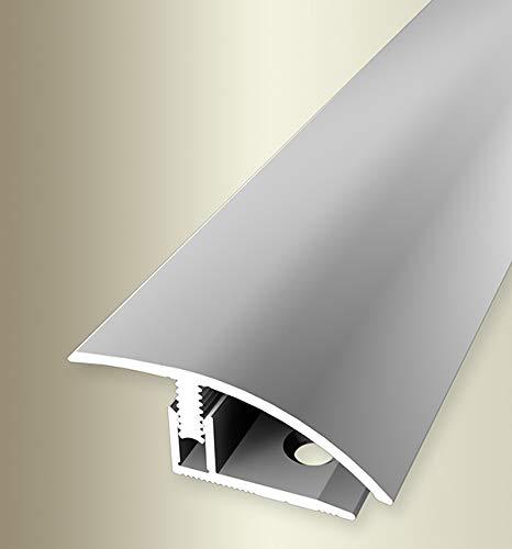 Parkettfreund 64401004 Perfil de compensación PF 556 aluminio plateado, anodizado, 100 cm