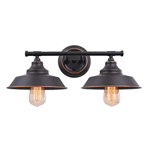 ZJING Retro Wandlampe, Kreative Topfabdeckung Schmiedeeisen Wandlampe Schlafzimmer Waschraum Spiegel Scheinwerfer, Schwarzer Abschnitt, Dunkelbraun (Ohne Lichtquelle),Darkbrown