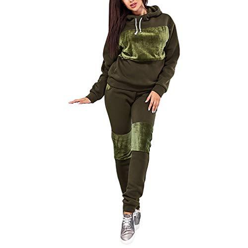 Mxssi Damen Sport Anzug Damen Trainingsanzüge Kapuzenpullover Top Hoodie Running Set Jogginganzüge Jogginghose