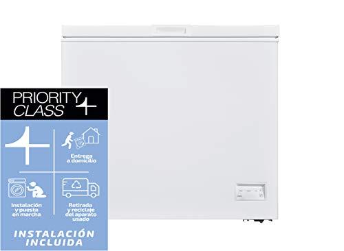 Sauber - Congelador Horizontal SCHD-200 - Función DUAL - Eficiencia energética: A+ - Ancho: 90,5 cm - 200 litros - Color Blanco