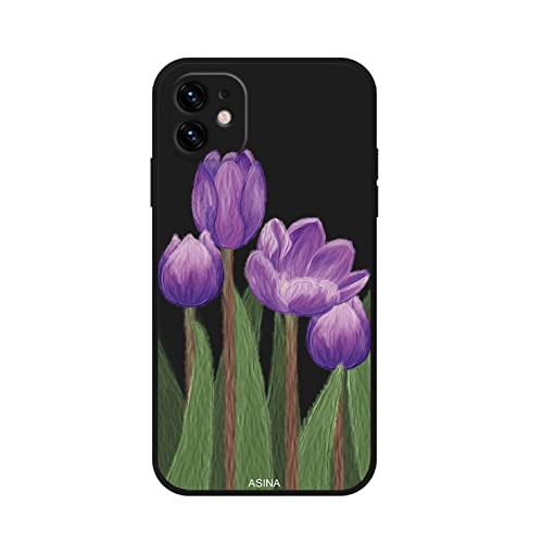 ZWQASP QJSMGZS Funda De Borde Lateral Recta For iPhone 13 11 12 Pro MAX XS MAX XR I Teléfono 8 7 6 Plus SE2020 Cubierta De Flores De Aceite De Silicona Suave (Color : 8, Material : For iPhone 11 Pro)