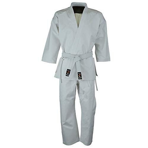 Playwell Martial Arts Étudiant 100% Cottons Karaté Gi Blanc Veste Seulement - Seulement Haut - Blanc, 0000/100cm