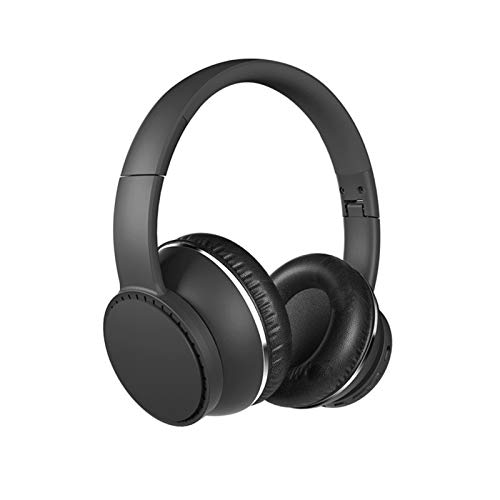 KJCHEN Headphones portable wireless Bluetooth high-tone portable electric game computer music noise reduction (Color : Black)