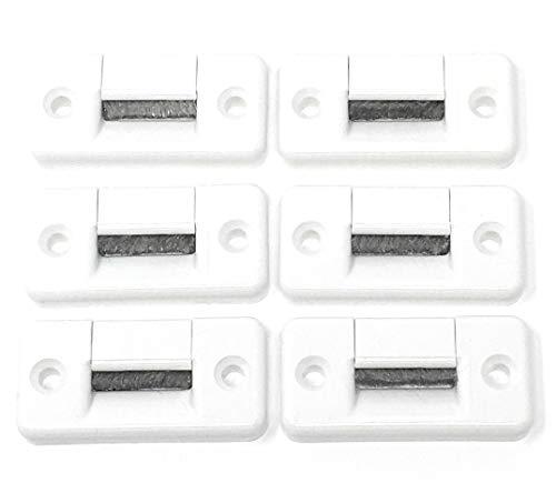 6x Gurtdurchführung maxi bis 23 mm Gurtbreite - zweiteilig - kein Gurtausbau nötig, 60 x 30 mm, Lochabstand 44 mm