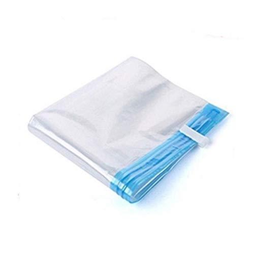 Augus Jacob Rollo de Mano Transparente Plegable comprimido Bolsa de vacío Ropa de hogar Ropa de Almacenamiento de plástico Ahorro de Espacio (Color : 50x70)