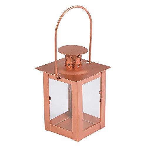 Oriental Trading Lantern, Metal, Brown, One Size