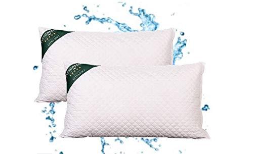 cuscino 1 piazza e mezza Evergreenweb - Coppia Cuscini Letto 40x70 Alti 15 cm 2 Guanciali Lavabili in Lavatrice