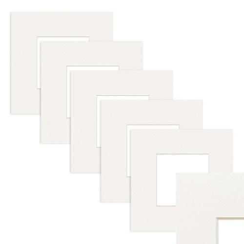 PHOTOLINI 5X Passepartout Weiß 15x15 cm (10x10 cm)