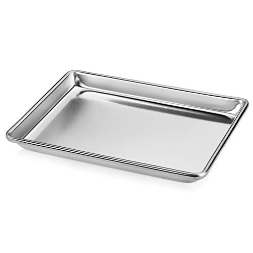 "New Star Foodservice 36831 Commercial-Grade 18-Gauge Aluminum Sheet Pan/Bun Pan, 9"" L x 13"" W x 1"" H (Quarter Size)"