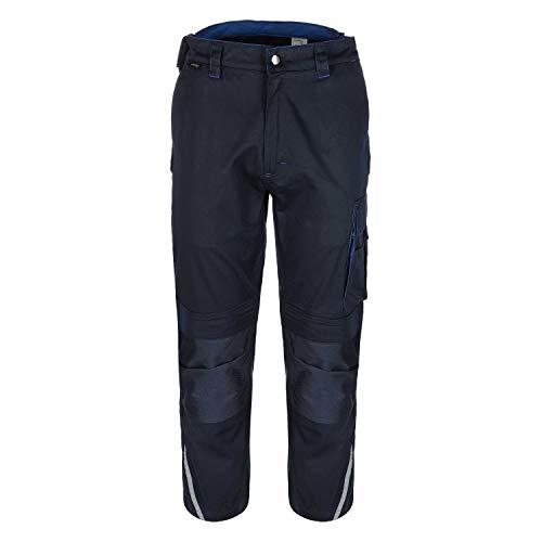 TMG® Finesse Lange Arbeitshose für Herren, Bundhose/Cargohose mit Kniepolstertaschen, Navy Dunkelblau 52
