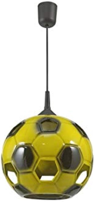 Fuballleuchte Fuball Lampe gelb-schwarz fürs Kinderzimmer Hngeleuchte Pendellampe Deckenlampe