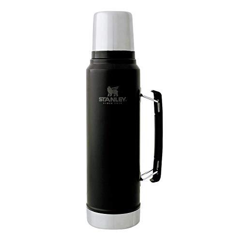 STANLEY(スタンレー) クラシック真空ボトル 1L マットブラック 水筒 保冷 保温 保証 08266-007 (日本正規品)