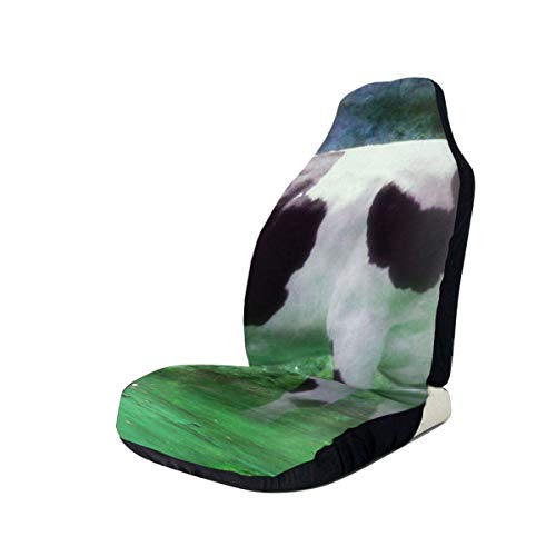 Una vaca Grunge funda de asiento de coche asientos delanteros solo protector de asiento de cubo completo cojines de asiento de coche para coche SUV camión