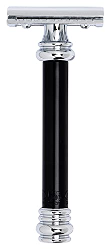 Merkur Black Handled Double Edge Safety Razor, MK-38011