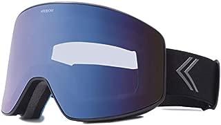 KREEDOM La Grave Goggle, Black Satin with Blue Chrome Lens