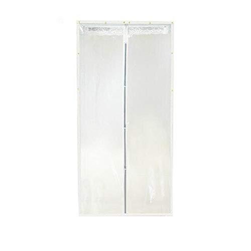Cortina antimosquitos autoaspirante cortina de aire acondicionado magnética aire acondicionado hogar cortina de plástico transparente anti-humo partición libre perforadora-transparente beige_120 * 210