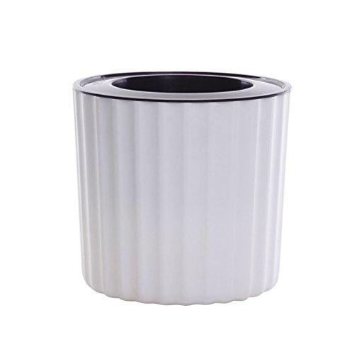 OUNONA Vaso piccolo in resina bianco